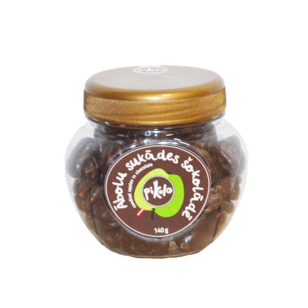 Ābolu sukādes Pikolo tumšajā šokolādē 235g