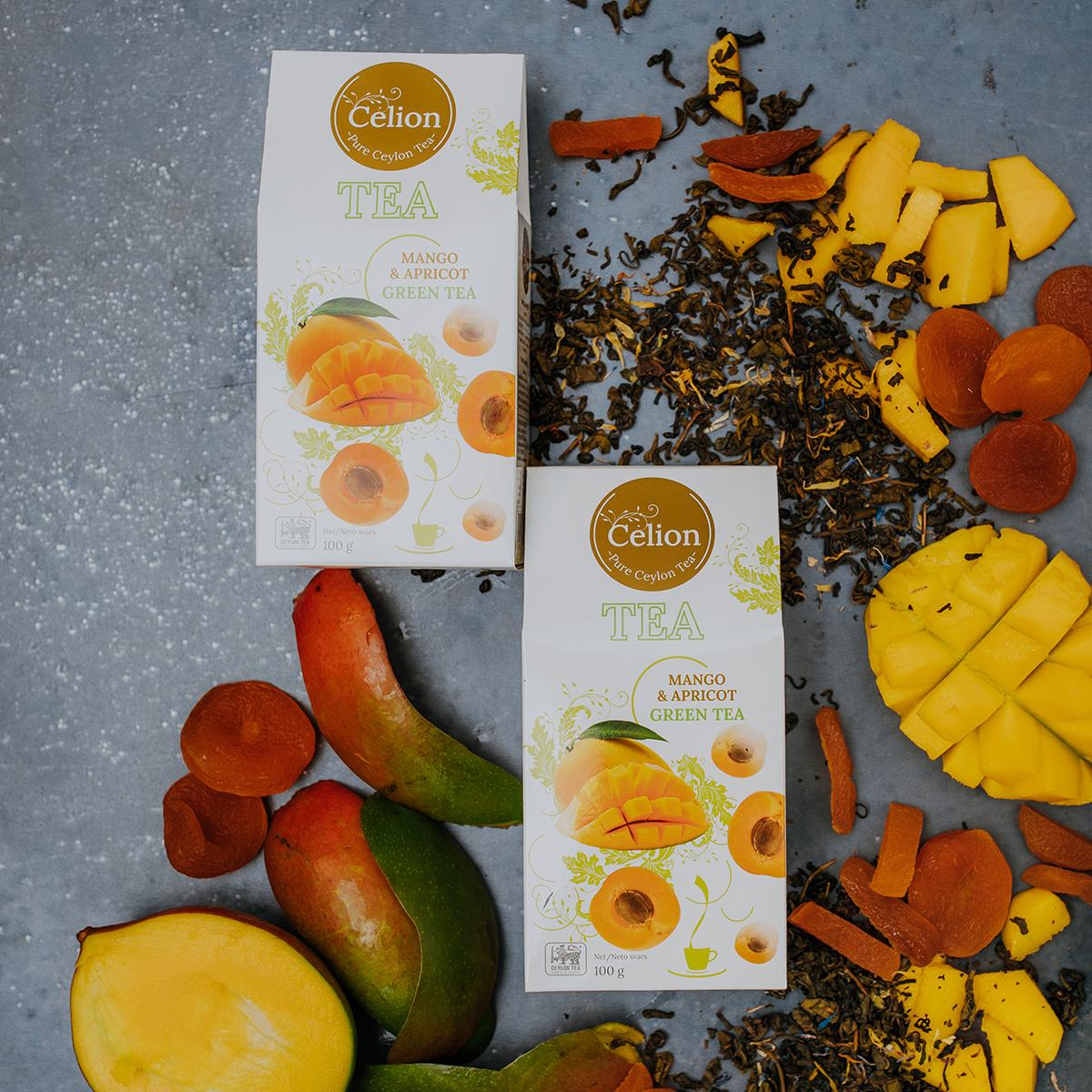 Zaļā tēja Mango & Aprikoze 100g