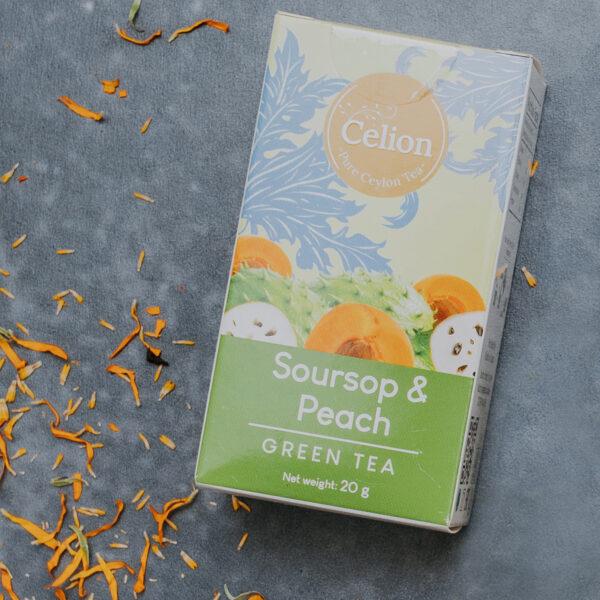 Zaļā tēja Soursops & Persiks 20g