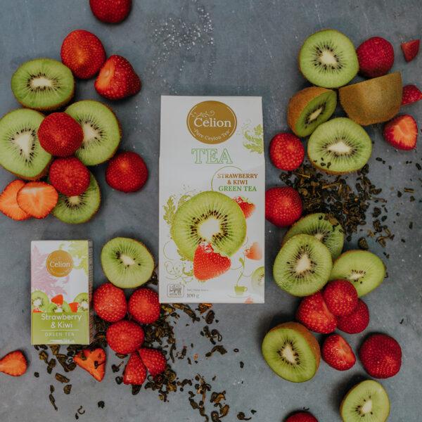 Zaļā tēja Zemene & Kivi 100g