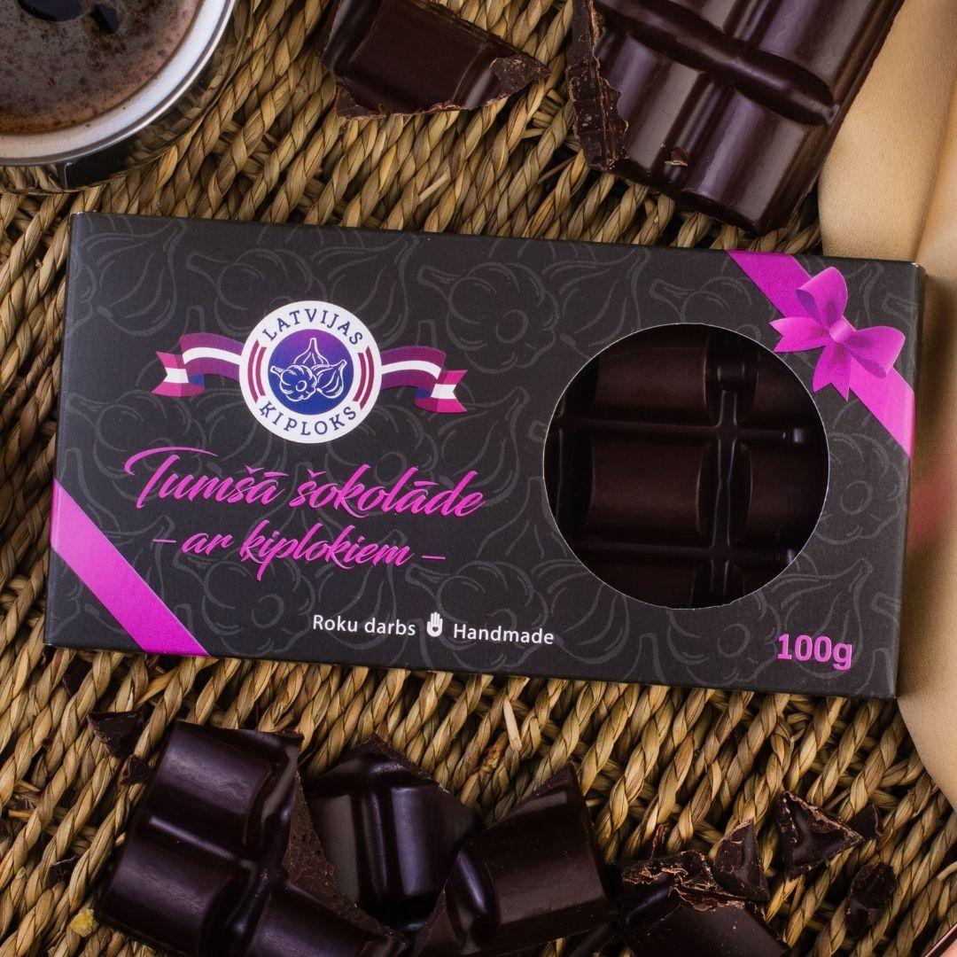 Tumšā šokolāde ar ķiplokiem 100g